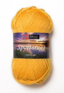 Viking of Norway Sportsragg Garn Ullmix 50g Mörk gul 545