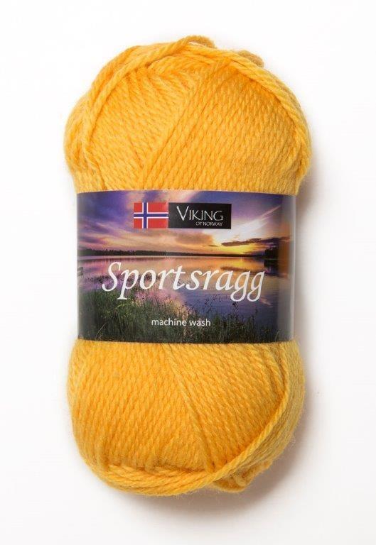 Viking of Norway Sportsragg 50 gr Mørk gul 545