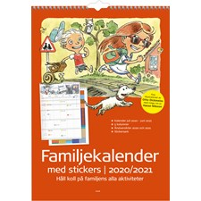Burde Väggkalender 20-21 Familjekalender med stickers