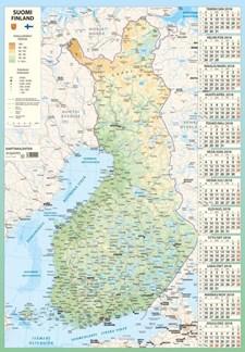 Julistekalenteri 2018, Karttakalenteri 590 x 850 mm