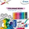 Utviskbar Fiberpenn Frixion Color 12 stk + Fargeleggingsbok