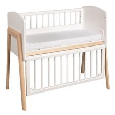 Troll Bedside crib Vit/Natur