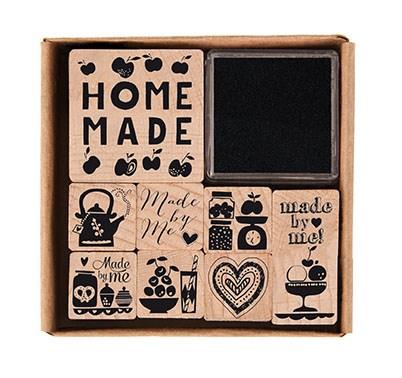 Stempelsett Homemade 8 X 8 cm, 8 stempler