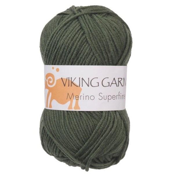 Viking of Norway Merino Superfine Garn Merinoull 50g Grön 633