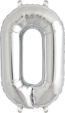 """Sifferballong, Rico, """"0"""", Silver, 36 cm."""