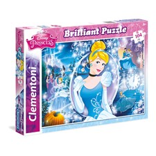 Puslespill, Disney Askepott, Brilliant Puzzle, 104 brikker, Clementoni