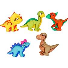 Knappar Dinosaurier 20-25 mm 5 st