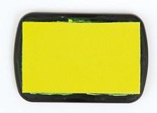 Mustetyyny, tekstiili, neonkeltainen, 9 x 6 cm