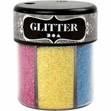 Glitter, 6x13 g, ass. farger