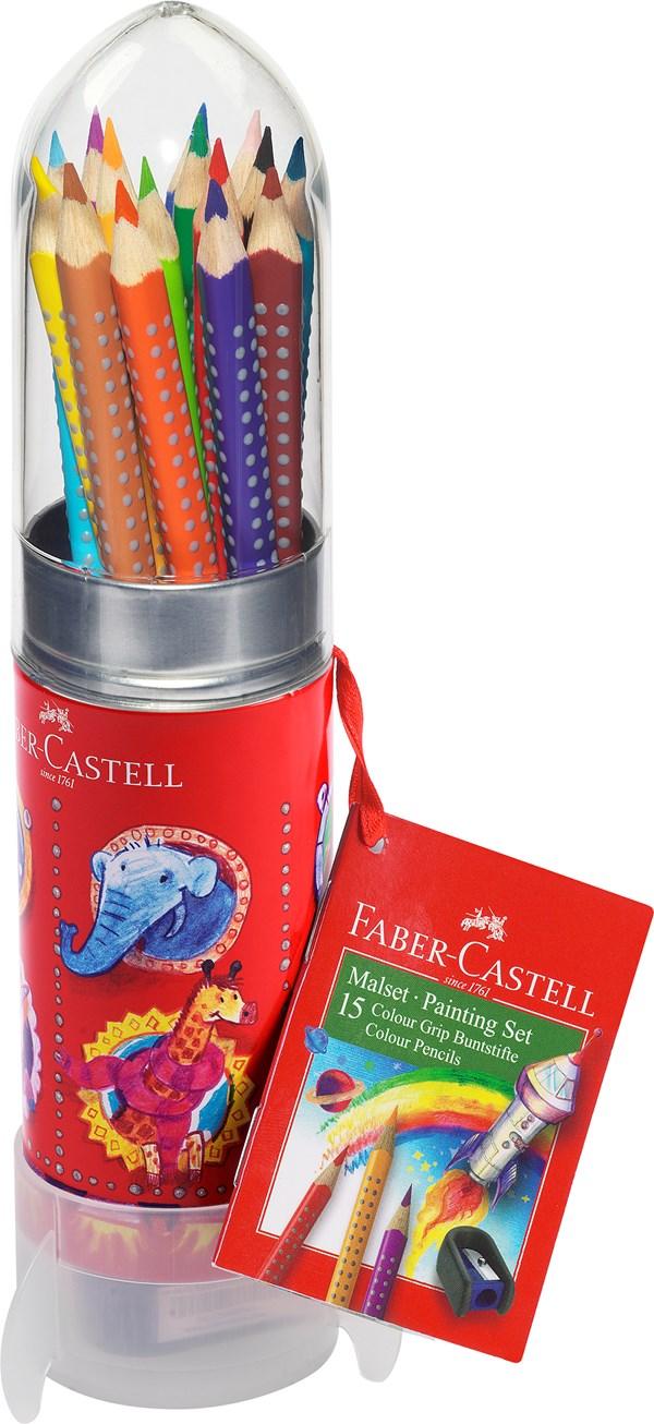 """Faber-Castell Grip Fargeblyanter Akvarell """"Rakett"""" 15 pakning"""