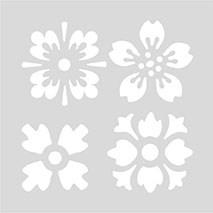 Sjablon Liten, Blomster, 7,5 x 7,5 cm