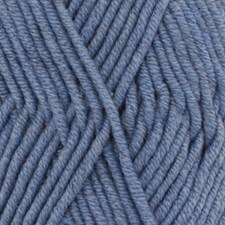 Drops Big Merino Uni Colour Garn Ullgarn 50g Jeans Blue 07