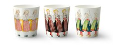 Krus, Elsa Beskow, Tre piker, 3-pack, 28 cl, Design House Stockholm