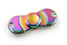 Fidget Spinner, Rainbow Zinc Alloy