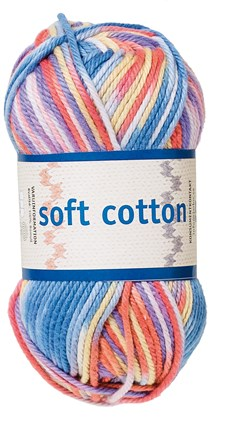 Soft Cotton Bomullsgarn 50g Multi Print (8879)