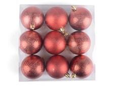 Joulukuusenpallot pienet Tummanpunainen