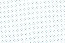 Bomullstyg Prickar 50x160 cm Vit/Ljusblå