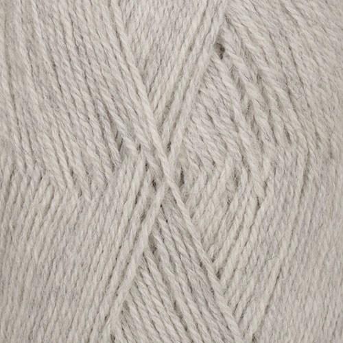 Drops Flora Mix Garn Ullmix 50g Light Grey 03