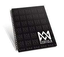 Muistikirja A5, Viivoitettu, Logo, Marcus & Martinus