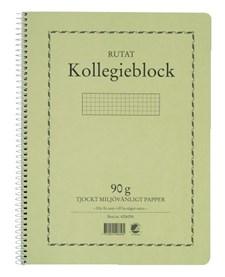 Kollegieblock Svanenmärkt A4 Rutat 90g 70 Blad
