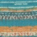 Drops Fabel Print Garn Ullmix 50g Blue Sea (162)