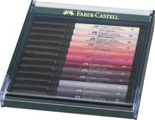Soft Brush Pen Pitt Artist Faber-Castell 12-pack Hudfärger