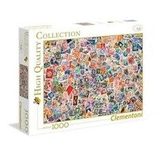 Puslespill HQC Stamps, 1000 brikker, Clementoni