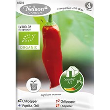 Chilipeppar, Hungarian Hot Wax, Organic
