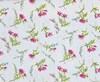 Stoff Blomster Grå/Rosa, 50 x 160 cm
