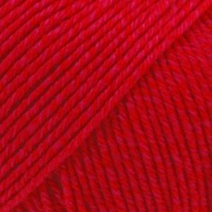 Drops Cotton Merino Uni Colour Lanka Villasekoitus 50g Red 06