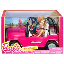 Barbie Beach Cruiser med Barbie & Ken