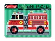 Puslespill med lyd, brannbil, Melissa & Doug