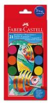 Vattenfärger Faber-Castell Plastetui 21 Färger