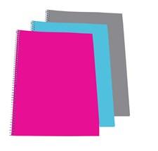 3-pack Kollegieblock A4 Rutat med 70 sidor