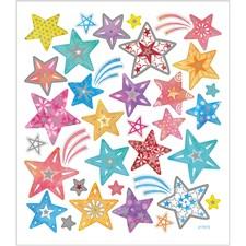 Klistermärken Stjärnor Mixade Färger 1 ark
