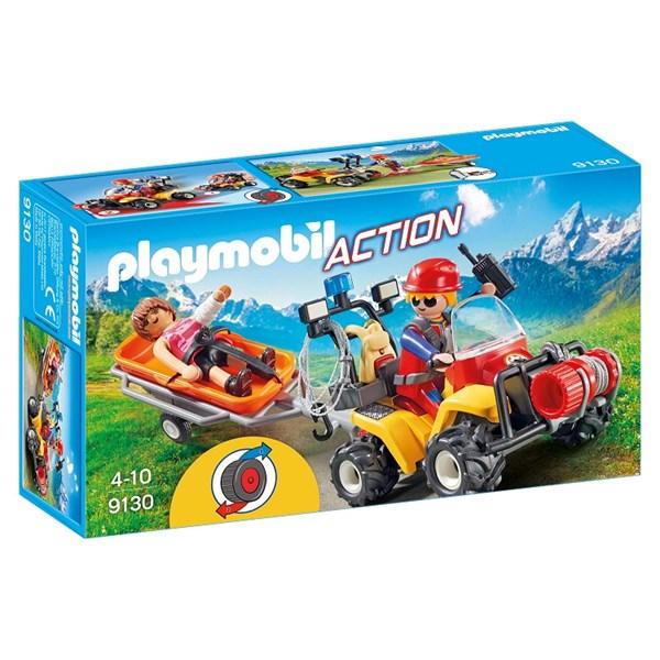 Fjällräddings-fyrhjuling med släp  Playmobil Action (9130)