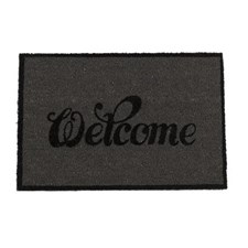 """Ovimatto """"Welcome"""" harmaa 40x80 cm"""