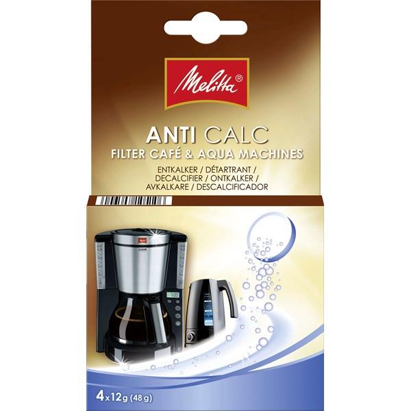 Avkalkningsmedel MELITTA 4x12gram  Melitta - tillbehör & reservdelar