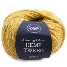 Adlibris Hemp Tweed 50g Golden Hay A481