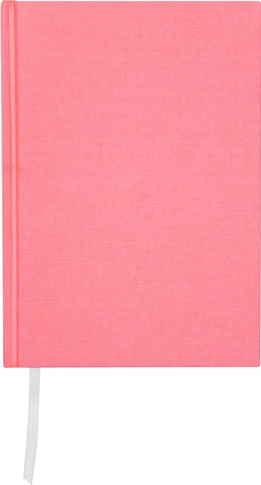 Muistikirja Burde Pellavatekstiili A5 Vaaleanpunainen