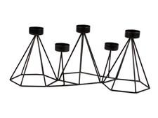 Form Living Ljusstake för värmeljus Metall 41x15x21.5cm Svart