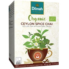 Dilmah Te Ceylon Spice Chai Tepåsar 20 st Ekologisk
