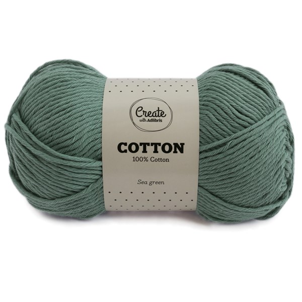 Adlibris Cotton lanka 100g Sea Green A091