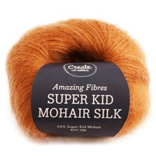 Adlibris, Super Kid Mohair Silk, 25 g, Rusty Orange A551