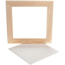 Treramme m. maleplate, utv. mål 25,8x25,8 cm, dybde 1,5 cm, Plate 20 x 20cm, 1stk.