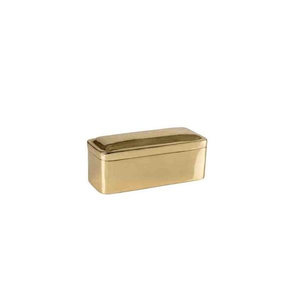 Day Home Divinity Ask 8x8x19 cm Mässing Guld (guld) - askar