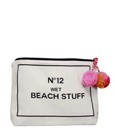 Bag-all Wet Beach Stuff Tygfodral 23x28 cm Svart/Vit
