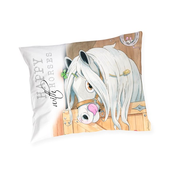 Örngott Happy häst  Lena Furberg  Martinex - barnsängkläder