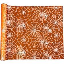Kaitaliina, lev. 29 cm, pit. 3,5 m, oranssi, halloween, 1rll