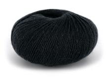 Du store Alpakka Wool Garn Ullmix 50 g Svart 526